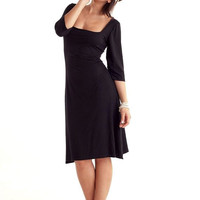 Square Neckline Black Dressl Free US Shipping by marcellamoda