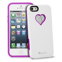 Amazon.com: GreatShield RADIANT Series Heart Shape Valentines Day Case for Apple iPhone 5 (Purple & White): Cell Phones & Accessories