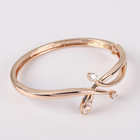 Champaign Gold 925 Sterling Silver Snake Bangle Bracelet at Online Jewelry Store Gofavor