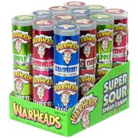 Warheads Super Sour Spray Candy Watermelon Cherry Green Apple Blue Raspberry Variety Pack 0.68 Ounce Bottles (Pack of 12): Amazon.com: Grocery & Gourmet Food