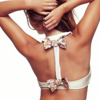 Crimson and Clover Top & Honey Bunch Bow Bottom - Lolli - Swimwear