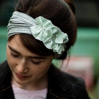 Frosty Flowers headwrap hair head wrap band by GarlandsOfGrace ($23)