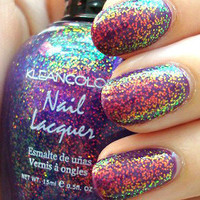 New! KLEANCOLOR ♥ CHUNKY HOLO PURPLE ♥  HOLOGRAPHIC GLITTER Nail Polish!