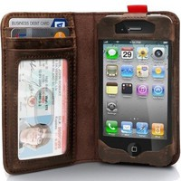 Leather Readbook Classic Case for iPhone 4 / 4S