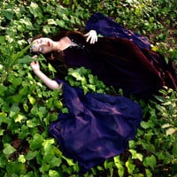 Morgan Le Fay medieval costume in velvet and by CostureroReal