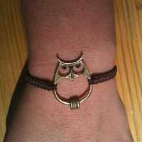 Retro Bronze Owl Bracelet You Choose Color Free Shipping