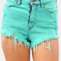 Minty Shorts - Mint