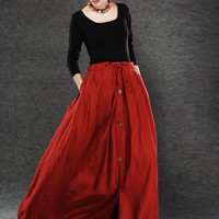 girls skirts long linen skirt for women