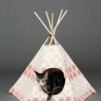 Cat Tipi Womens Printed Cat Tipi