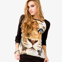 Tiger Raglan Top | FOREVER 21 - 2036603809