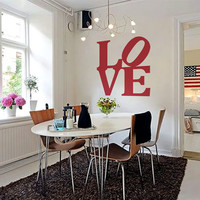 "Wall Decal Vinyl Sticker Home Decor  Art Mural "" Red Love  "" 45.7"" x 45.7"""