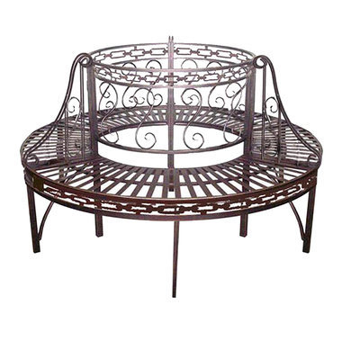 Premier Circular Wrap-Around Metal Garden Tree Bench - FZ505071 - Design Toscano