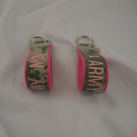Army Mom Name tape Keychain