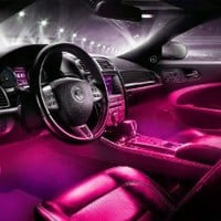 Interior LED Underdash Lighting Kit 4pc. Pink
