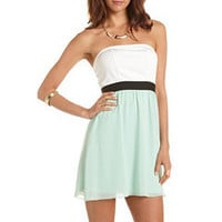 Knit Bust Chiffon 2-Fer Dress: Charlotte Russe