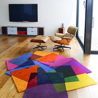 &#x27;after matisse&#x27; rug by sonya winner | notonthehighstreet.com