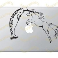 Amazon.com: Narwhal Versus Unicorn - Vinyl Laptop or Macbook Decal: Computers & Accessories