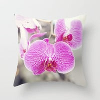 Orchid Hush  Throw Pillow by Bree Madden