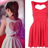 Cut Out Back Heart Dress