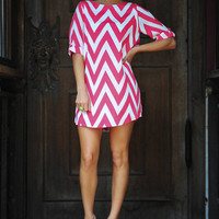 RESTOCK: Everly Joy For Chevron Dress: Pink | Hope&#x27;s