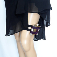 Flask Garter - WITH 4oz FLASK -Baltimore Ravens inspired