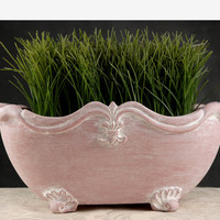 "14"" Terra Cotta Poly Resin French Planter"