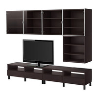 "BESTÅ TV storage combination - black-brown - 94 1/2x16 1/2 "" - IKEA"