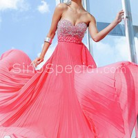 Free shipping:Flattering A-line Sweetheart Empire Waist Floor Length Prom Dress-SinoSpecial.com