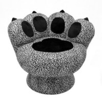 LumiSource Paw Chair, Snow Leopard: Home & Kitchen