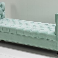 www.roomservicestore.com - Hollywood Daybed in Aqua Velvet