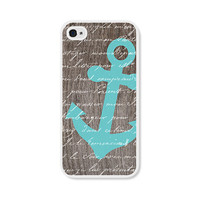 Anchor iPhone 4 Case  Plastic iPhone 4s Case  Wood by fieldtrip