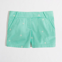 "Factory 5"" embroidered broken-in chino short"