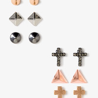 Crosses &amp; Spikes Stud Set