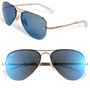Ray-Ban 'Semi Rimless Lightweight Aviator' 64mm Sunglasses | Nordstrom