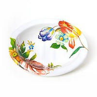 MacKenzie-Childs - Flower Market Enamel Soap Dish - White