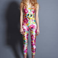 INCREDIBLE Vintage CHANEL Neon CC PRINT JUMPSUIT