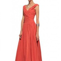 Amazon.com: Kingmalls Womens ruffle orange Greece style natural evening dresses: Clothing