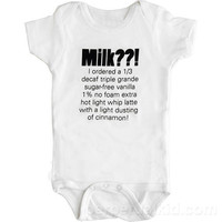 "$16.99 ""MILK??!"" Baby Snapsuit - Perpetual Kid"