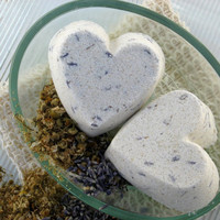 Heart Shaped Bath Bombs Lavender and Chamomile by SweetSallysSoaps