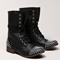 AEO Studded Lace-Up Boot | American Eagle Outfitters