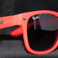 Rayban Wayfarer RB2140 Sunglasses Red Ray ban New from Sunglasses For All