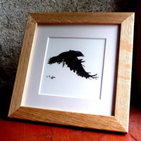 Crow original charcoal sketch by ggsarts on Etsy