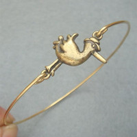 Bird Bangle Bracelet Style 2 by turquoisecity on Etsy