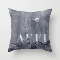 grey wall Throw Pillow by agnes Trachet