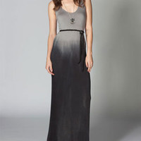 Full Tilt Tie Dye Belted Tank Dress Black Combo  In Sizes