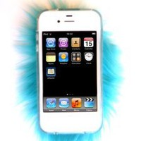 Amazon.com: Furrywraps, Furry Iphone 4 4s Case Cover BLUE!: Cell Phones & Accessories