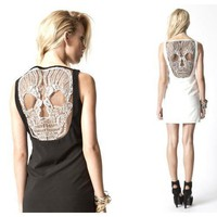 Alexander Mcqueen skull dress