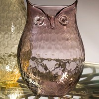 Blush Owl Vase