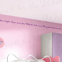 Flower Gleam and Glow Rapunzel Tangled Disney, Girl or Boy Room Kid Baby Nursery Vinyl Wall Decal Lettering Art Decor Quote Sticker B63