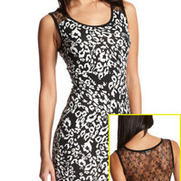 Charlotte Russe - Lace-Back Leopard Dress